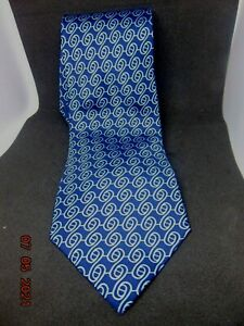 HERMES blue Silk Necktie CHAINE D'ANCRE 5288 New with tags