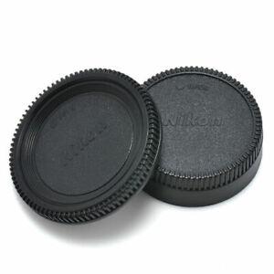 2PCS Body Lens Cap Front + Rear Cover For Nikon AF AF-S Lens DSLR SLR Camera/