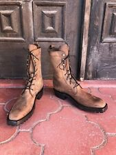 Brown Mulehide Lace Up Packer Ankle Work Boots  CABOOTS Size Ladies 9A