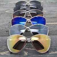 Cat Eye Women Fashion Sunglasses Mirrored Lens Metal Frame Designer Inspired
