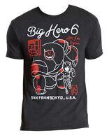 Disney Big Hero 6 San Fransokyo Charcoal Heather Men's T-Shirt New
