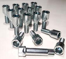 16 x sintonizzatore SLIM FIT DADI BULLONI CERCHI IN LEGA CON CHIAVE A STELLA, m12 x 1.25 FILETTO 28mm
