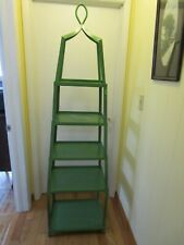 "Steel Metal green 4 tier Obelisk Etagere shelves Free standing display 74½"" t"