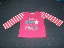 """Girls Pink Bluezoo top """"I dream of being a superstar"""" age 2-3 Debenhams"""