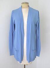 NWT Dana Buchman Periwinkle Blue Open Cardigan Sweater Silky Chain Link Back L