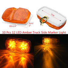 10 x Amber Lens 12 LED Diodes Bulls Eye Truck Side Marker Bright Clearance Light