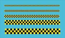 """Amarillo y Negro a Cuadros .5 """"cinta 13mm coche moto exterior de vinilo calcomanía"""
