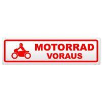 Motorrad voraus 2 Magnetschild Schild magnetisch