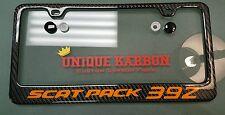 Unique-Karbon Carbon Fiber License Plate Frame Scat Pack Rt Dodge Challenger srt