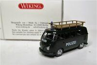 Wiking 1:87 VW T1 Bus mit Dachträger OVP 864 10 Polizei