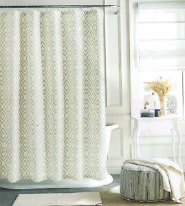 Tommy Hilfiger Geometric Southwestern Diamond Lake Shower Curtain Beige 72 x 72
