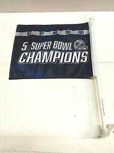 Dallas Cowboys NFL Super Bowl Wins Car Flag ( set of two )