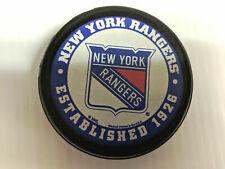 New York Rangers Puck Men's Ice Hockey Established Logo Black NHL