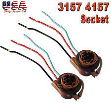 2x 3157 4157 Bulb Socket Pig Tail Harness Wire Plug for Turn Signal Brake Light