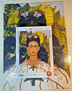 """Eurographics Puzzle """"Frida Kahlo Self Portrait"""" Fine Art Collection 1000 Piece"""