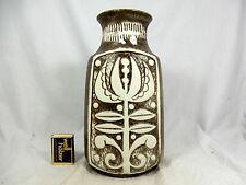 """Beautiful  70´s Bodo Mans Design Bay """" Relief """"  Keramik Vase 96 25 cm    09820"""