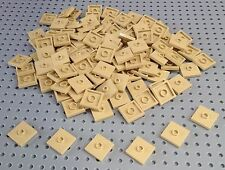 Lego Tan 2x2 Flat Tile with Centre Stud (23893 / 87580) x10 *NEW* City Minecraft