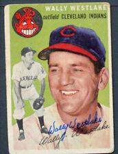 Wally Westlake #92 signed autograph auto 1954 Topps Baseball Trading Card