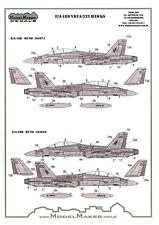 "Model Maker Decals 1/48 MCDONNELL DOUGLAS F/A-18D HORNET VMFA-533 ""HAWKS"""