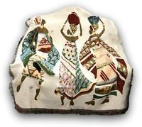 DaDa Bedding Dancing Women African Culture Woven Tapestry Throw Blanket, 50 x 60