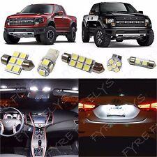 7x White LED lights interior package kit for 2010-2014 Ford Raptor or F-150 FS2W