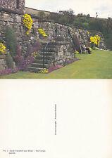 1980's TERRACE GARDEN CASTLE CAMPBELL DOLLAR CLACKMANNANSHIRE SCOTLAND POSTCARD