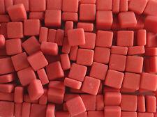 100g Square Opus 19 SM Dark Salmon Matt 12mm x 12mm x 5.5mm Domed Mosaic Tile