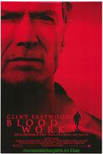 BLOOD WORK MOVIE POSTER ORIGINAL DS 27x40 CLINT EASTWOOD 2002 ACTION CRIME FILM
