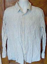 EUC Banana Republic Dress Shirt Classic Fit 16/16.5 Linen Blend Large Free Ship!