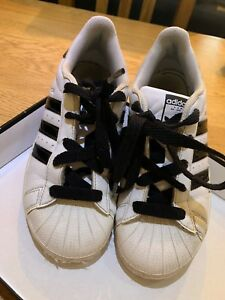 addidas superstars White Leather Size 2 Trainers