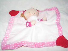 Karen Katz SECURITY BLANKET Girl Doll Pink Counting Kisses Teether Grabber