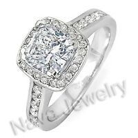 2.77Ct Cushion Cut Diamond Engagement  Ring EGL SI2-H