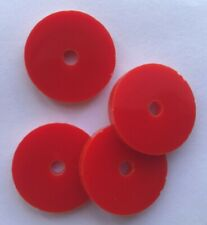 Acrylic Washers Various Colours And Size, Custom Size 3 mm Thick Pack of 10
