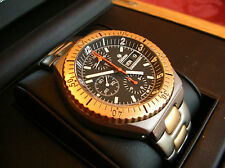 RARE 18k Gold and Titanium Tutima Military Chronograph Watch Lemania 5100