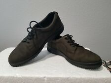 ECCO Women's Suede Lace Up Shoes Size 39 US 7 Olive Green Shoes
