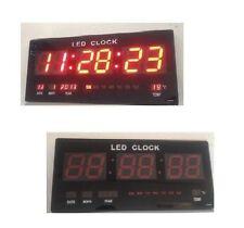 XXL Wanduhr Digitaluhr Uhr Datum Kalender Uhr Temperatur Led Display Top Neu