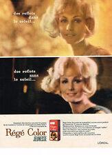 PUBLICITE ADVERTISING  1963   L'OREAL   REGE COLOR JEUNESSE