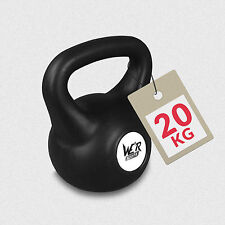 20KG Vinyl Kettlebell Body Tone Strength Training Home Gym Fitness Kettlebells