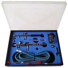 AIRBRUSH PISTOLE SET BD-280K SPRITZPISTOLE DOUBLE-ACTION 0,2 / 0,3 / 0,35 / 0,5