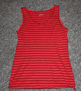 Women's Columbia Sportswear Sleeveless Tank Top Shirt Red/Black Small/Petite S/P