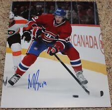 Michael Bournival signed Canadiens 8x10 photo COA