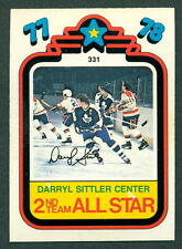 1978 79 OPC O PEE CHEE #331 DARRYL SITTLER NM AS TORONTO MAPLE LEAFS HOCKEY CARD