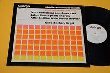ERIK SATIE CHARLES IVES GERD ZACHER LP NM CONTEMPORARY AVANTGARD