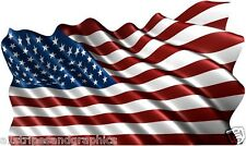 36X60 American Flag Window RV Trailer Decal Decals Graphics Wall Art Tailgate