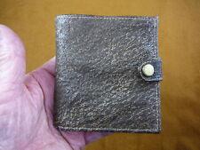 (EL200-100) 100% Genuine Warthog wart hog leather hide brown trifold wallet