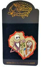 DISNEY AUCTIONS JACK SALLY VALENTINE'S DAY NIGHTMARE BEFORE CHRISTMAS HEART PIN