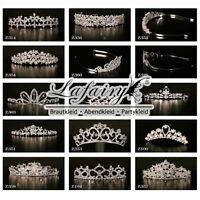 8x Luxus Diadem Strass Tiara Brautschmuck Haarschmuck für Hochzeit zur Auswahl