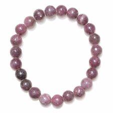 Premium CHARGED Lepidolite Crystal 8mm Bead Bracelet Stretchy ENERGY REIKI