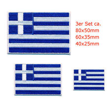 3 Grecia Atene Bandiera GREECE FLAG PATCH RICAMATE aufbügler 0647