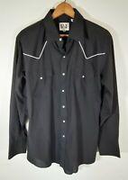 Vintage Ely Cattleman Pearl Snap Shirt Stripe Rockabilly Western Rodeo Cowboy L